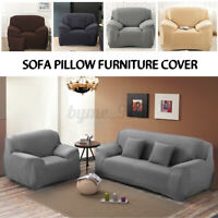 1/2/3 Seaters Stretch Sofa Couch Lounge Slipcovers Pillow Slip Cover