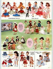 1960 PAPER AD 2 PG American Character Mini Doll Betsy McCall Vogue Ginny Toni