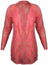 Maglie e camicie da donna rosa floreale elasticizzato