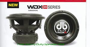 "New DB Drive Model WDX10G5D4 10"" Woofer 4 Ohm DVC  / 3000 Watts SPL Audiophile"