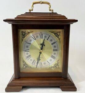 "Vintage 12"" Howard Miller 612-481 D Battery Quartz Dual Chime Mantel Clock WORKS"