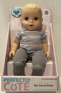 """Perfectly Cute My Sweet Baby Blonde Baby BOY Doll 14""""H New"""
