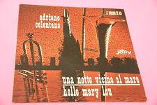"""SOLO COPERTINA CELENTANO 7"""" UNA NOTTE VICINO AL MARE ORIG 1963 EX !!!!!!!!!!!!!!"""