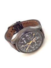 Timex Men's T2N931 Brown Calf Skin Quartz Watch