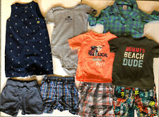 18 Months Boys Clothes Lot Baby Spring Summer Shorts Short Sleeve Shirts