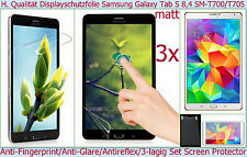"3x Antireflet mat Film De Protection D'écran SAMSUNG Galaxy Tab S 8.4"" SM T700"