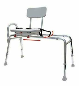 Swiveling and Sliding Bathtub Transfer Bench and Shower Chair (Reg) (77662). Swi