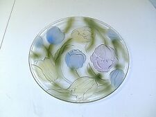 """GLASS TULIP SERVING DISH / PLATE 13"""" ROUND"""
