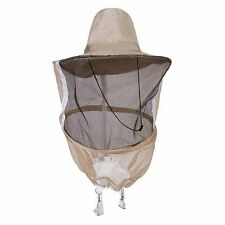 Beekeeping Beekeeper Face Head Guard Cowboy Hat Mosquito Bee Insect Net Veil New