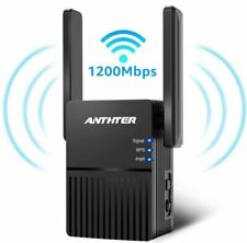 WiFi Range Extender,1200Mbps WiFi Repeater with 2 External Antennas- FREE SHIP