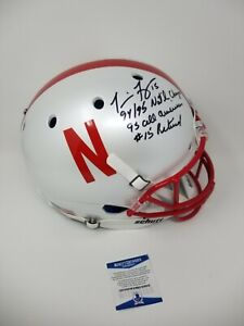 Tommie Frazier Nebraska White Huskers Signed Autographed Full Size Helmet 3 INS