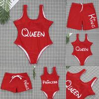 Mother and Daughter Family Matching Bikini Swimsuit Women Kids Girls Swimwear