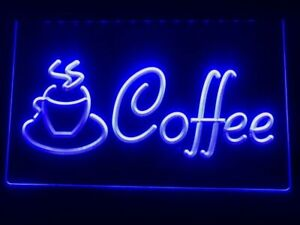 COFFEE Neon LED Light Sign Bar Club Pub *QUALITY* Shop Window Display Cafe Board