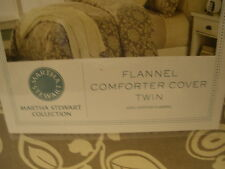 MARTHA STEWART Inglenook Flannel Twin Comforter Cover Collection Cotton New