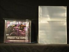 Double Wide CD Resealable Old Style 2CD JewelCase Side Japan SelectSleeves 50pc