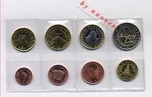 SLOVENIA I PRIMI EURO 2007 8 MONETE FDC UNC DA ROTOLINO