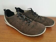 ECCO Biom Natural Motion Nubuck Leather Trainers Size UK 8