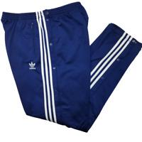 Adidas Men's XL Blue Trefoil Firebird Tear Away Track Pants Vintage 90's