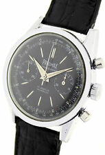 PRECIMAX Acciaio Uomo Cronografo-dalle 1950er anni-RARO CON NERO ZB.