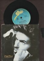 """George Michael - Faith / Hand To Mouth - 1987 7"""" picture sleeve single 45rpm"""