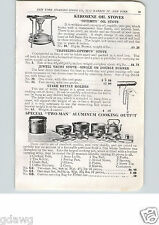 1915 PAPER AD Optimus Kerosene Oil Stove Pocket Size