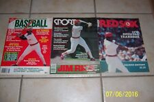 1978 BOSTON RED SOX Yearbook JIM RICE Lot of 3 1979 Baseball 1978 Sport Magazine