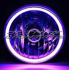 5-3/4 Motorcycle Purple COB SMD LED Halo Halogen H4 Light Bulb Headlight Headlam