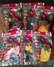 New sealed Lot of 6 packs Ja-Ru Balloons Asst Sizes 6.75x10 - Free Shipping