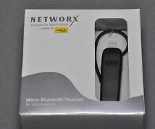 Networx Mono Bluetooth Headset für Mobiltelefones schwarz neu