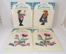 4 Classic Collection Hand Made Quilt Patch Cabbage Rose & Victorian Girl/Boy