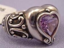 Brighton Sterling Silver PRIMA DONNA Purple Heart Ring 8 NEW w/TAG