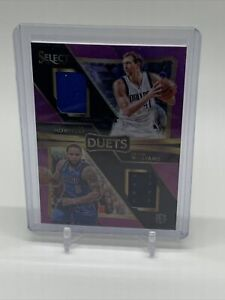2016-17 SELECT DUETS DUAL JERSEY PURPLE PRIZM DIRK NOWITZKI-DERON WILLIAMS RELIC
