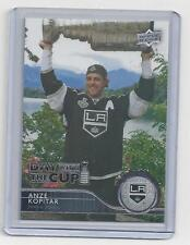 """ANZE KOPITAR  """"DAY WITH THE CUP"""" RARE UPPER DECK 2014-15 SERIES 1 HOCKEY CARD"""