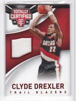 2014-15 Clyde Drexler #/249 Jersey Panini Totally Certified Blazers