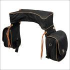 Tough 1 Horse Deluxe Trail Saddle Bag W/ Two Side Pockets Nylon Straps Black U--