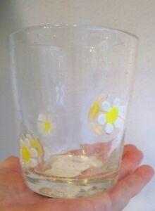 Gisela Graham Embossed Daisy Tumbler Drinking Glass 1 Pint Capacity (0.56L)