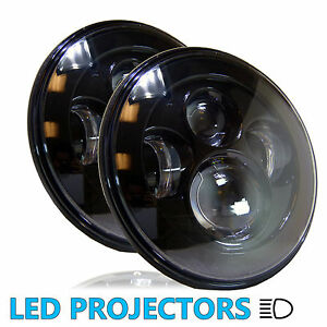 2pcs LED Headlights Headlamps Black for Chevy Truck 47 to 1957 and 62 to 1972