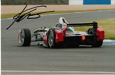 Karun Chandhok Hand Signed Mahindra Racing Formula E 9x6 Photo.