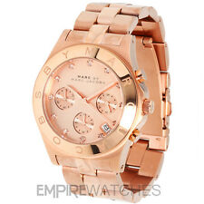 * NUOVO * Marc Jacobs Donna Blade Rose Oro Chrono Watch-mbm3102-Rrp £ 259
