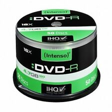 Intenso DVD-R 4.7GB/120 Minutes 16x Speed Single Layer Cake Box of 50