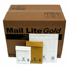 Mail Lite Mailing Padded Postal Envelopes Bags Size A/000 to K7 Gold White Seale