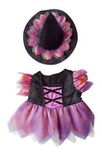 """Halloween Witch Custome Teddy Bear Clothes Outfit Fits Most 14"""" - 18"""" Build-A-Be"""