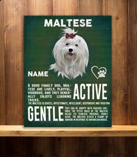 PERSONALISED  MALTESE  DOG   BREED   VINTAGE METAL SIGN RS07