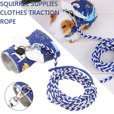 Small Animal Harness with Leash Lead Pet Hamster Guinea Pig Squirrel Clothes Kit