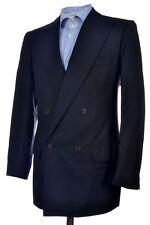 KITON Black Shadow Stripe Wool Double Breasted Spoat Blazer Jacket Mens - 38 R