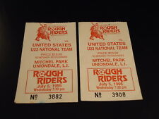LONG ISLAND ROUGH RIDERS 1995 2 Ticket Stubs SOCCER  United States National Team