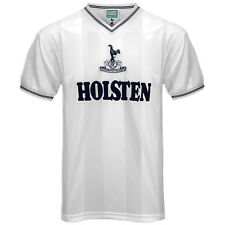 Tottenham Hotspur FC Official Football Gift Mens 1983 Retro Home Kit Shirt White