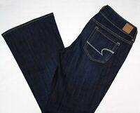 American Eagle AE Artist Flare Dark Stretch Denim Blue Jeans 12 S x 30 MINT