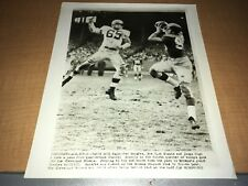New York Giants vs. Cleveland Browns Chuck Noll 1963 AP Football Wire Photo
