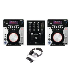 Omnitronic XMT-1400 & PM-222 Package CD Player CDJ USB MP3 DJ Disco Setup